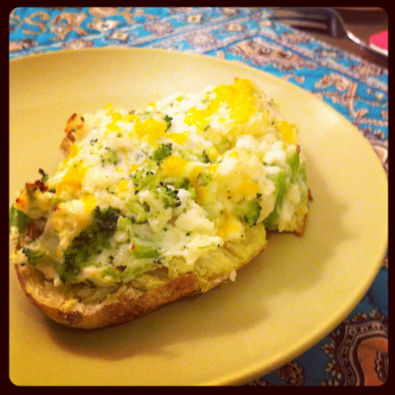 Broccoli Cheddar Twice Baked Potatoes, made with Greek Yogurt | Kelly ...