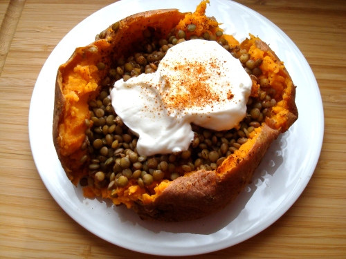 Simple Stuffed Sweet Potato
