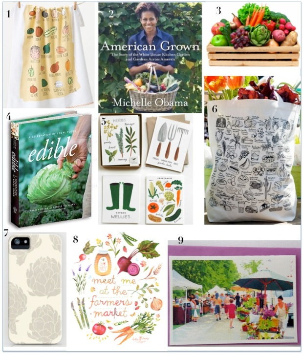 Healthy Gift Guide part 1: Gifts for for Farmers Market Foodies