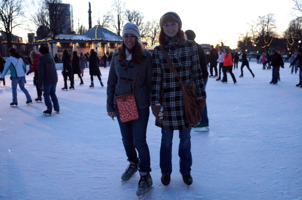 Ice Skating at Frog Pond