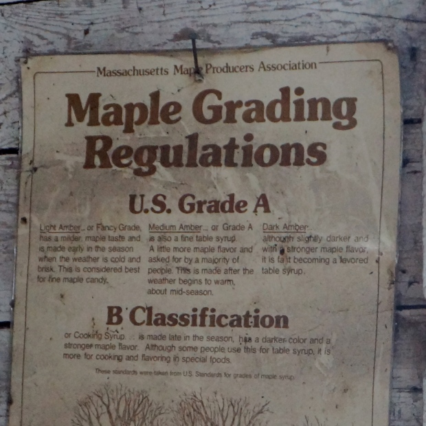 Maple Grading Regulations