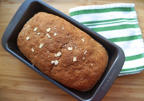 Easy 100% Whole Grain Bread