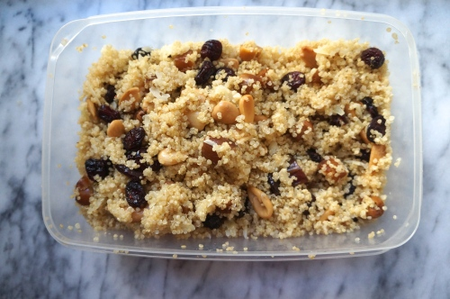 Quinoa Salad with Dried Cranberries and Marcona Almonds