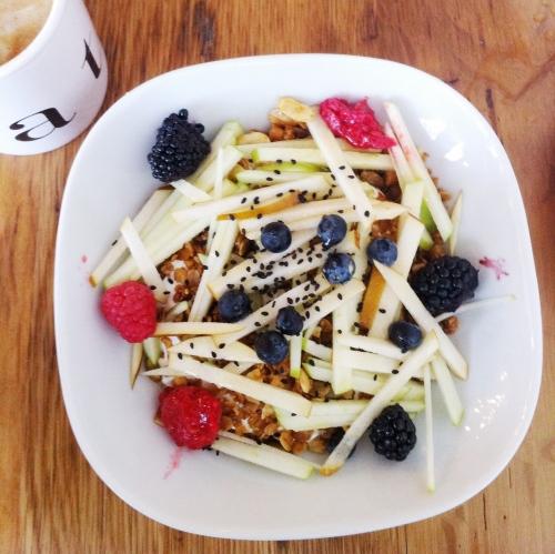 Healthy Menu Items in Boston: Museli from Tatte