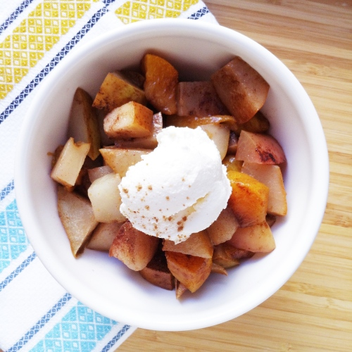 Baked Fruit with Ricotta