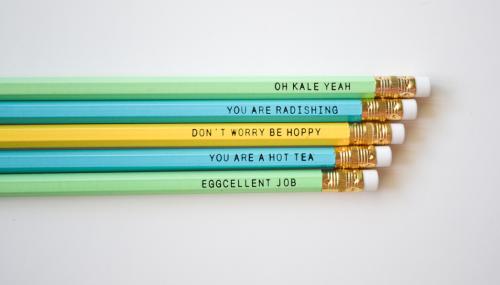 EAT Healthy Designs Food Pun Pencils
