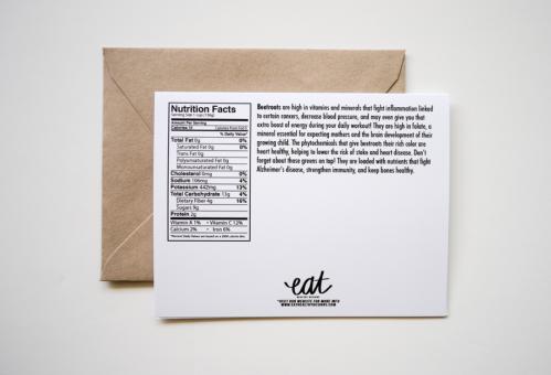 EAT Healthy Designs Birthday Card