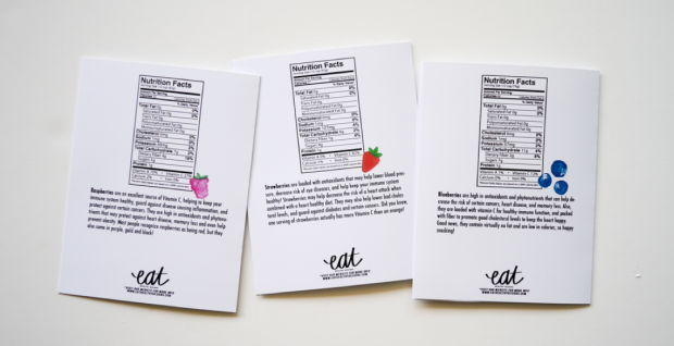 EAT Healthy Designs Thank You Note Set