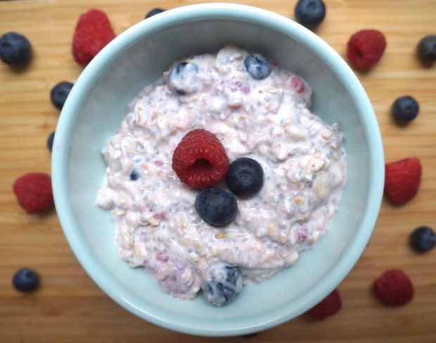 Banana Berry Overnight Oatmeal
