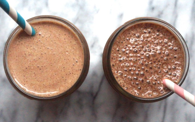 Healthy Chocolate Milkshakes -  No sugar