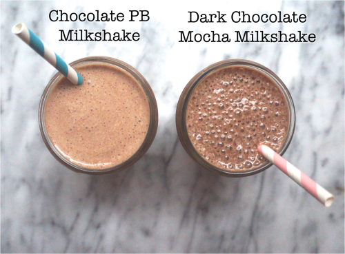 Healthy Chocolate Milkshakes (with NO added sugar)