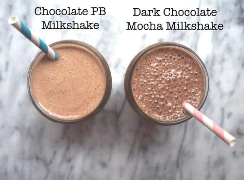 Healthy Chocolate Milkshakes (with NO added sugar)