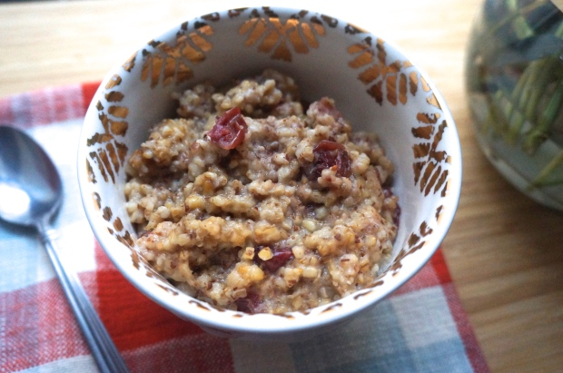 Cranberry Apple Steel Cut Oatmeal (Slow Cooker)