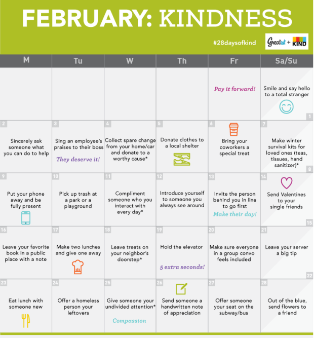 28 Days of Kindness - Greatist & Kind Bar