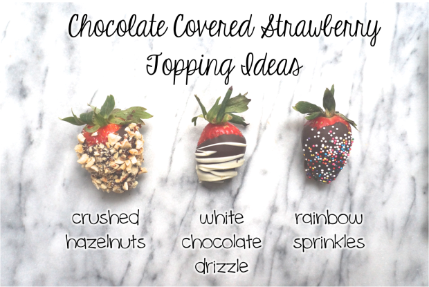 Chocolate Covered Strawberry Topping Ideas