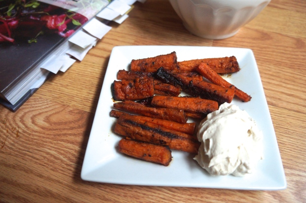 Honey Roasted Carrots with Tahini Yogurt