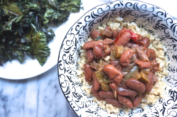 Slow Cooker Red Beans and Brown Rice