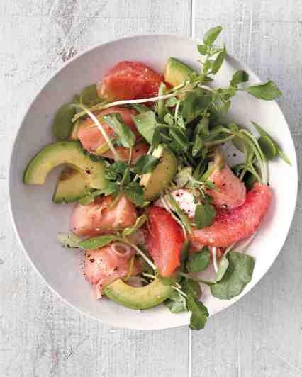 Grapefruit, Salmon, Avocado Salad