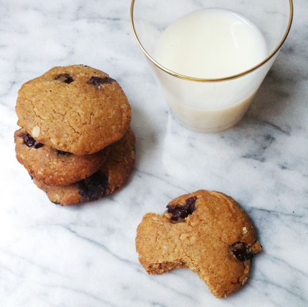 Almond Butter Tahini Blueberry cookies