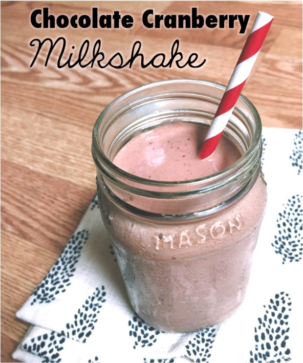 Chocolate Cranberry Milkshake (No sugar!)