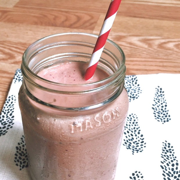 Chocolate Cranberry Milkshake (Healthy! No sugar!)