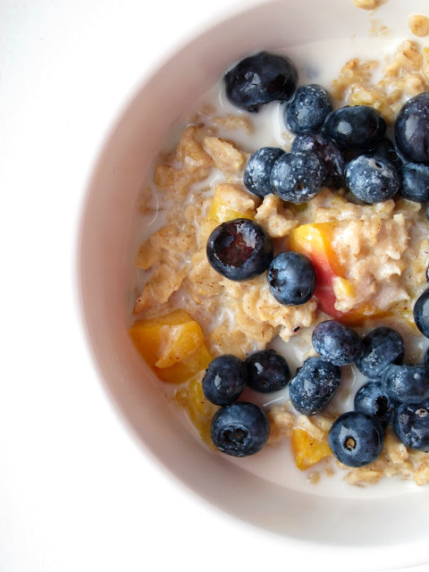 peach blueberry oatmeal (4)