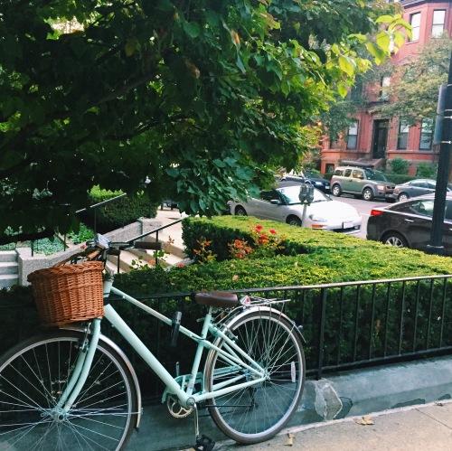 Biking in Back Bay, Boston