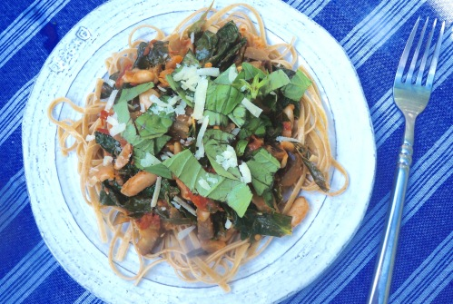 Whole Wheat Linguine with Summer Vegetables