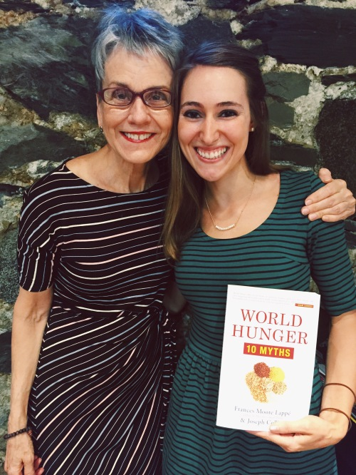 Frances Moore Lappe and Kelly Toups with World Hunger 10 Myths