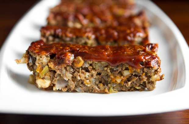 Lentil Walnut Apple Loaf